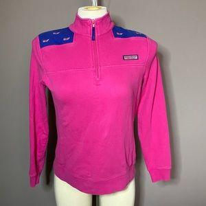 Pink / blue vineyard vines sweater S
